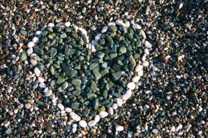Heart in Pebbles