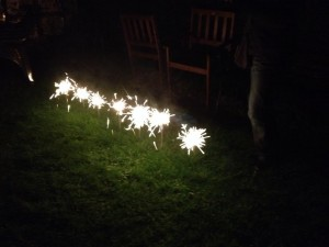 Home made firework display